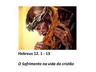 Hebreus 12. 1 - 13 O Sofrimento na vida do crist�o