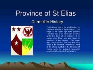 Province of St Elias