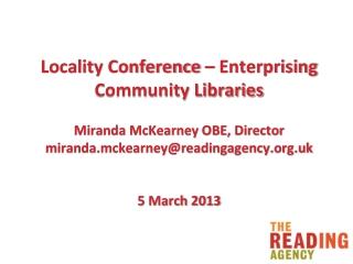 Miranda McKearney OBE