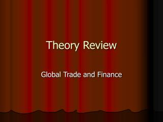 Theory Review