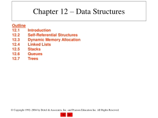 Chapter 12 B Trees