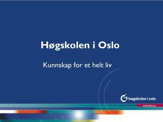 Høgskolen i Oslo