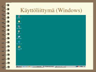 K�ytt�liittym� (Windows)