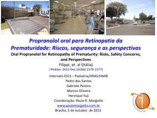 Internato ESCS – Pediatria/HRAS/HMIB Pedro dos Santos  Gabriele Pereira Marcos Oliveira