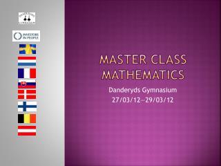 Master  class Mathematics