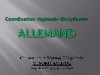 Coordination régionale disciplinaire ALLEMAND