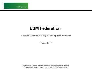 ESM Federation