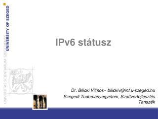 IPv6 státusz