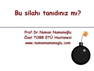 Prof.Dr.Numan Numanoğlu Özel TOBB ETÜ Hastanesi  numannumanoglu