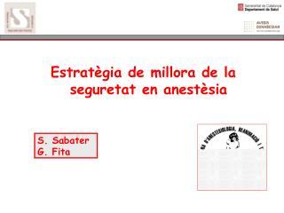 Estratègia de millora de la seguretat en anestèsia