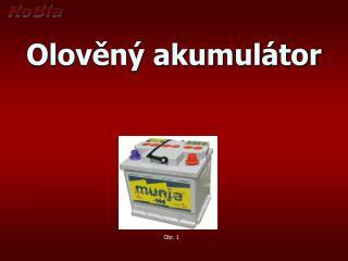 Olověný akumulátor