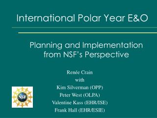 International Polar Year E&O
