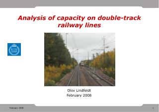 Analysis of capacity on double-track railway lines