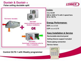 Ductair & Ductair +  False ceiling ductable split