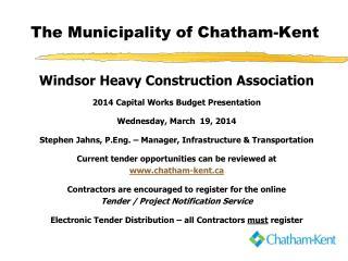 The Municipality of Chatham-Kent