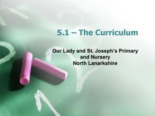5.1 � The Curriculum
