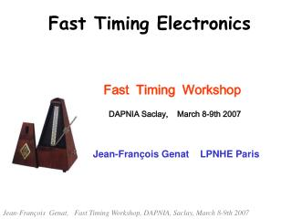 Fast Timing Electronics