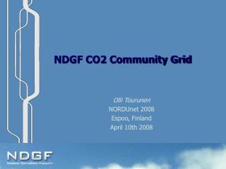 NDGF CO2 Community Grid