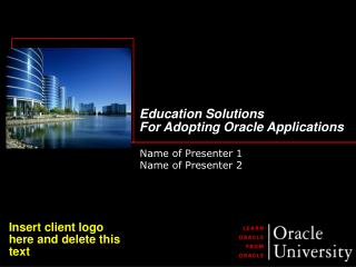 Education Solutions  For Adopting Oracle Applications