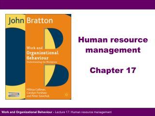 Human resource  management  Chapter 17