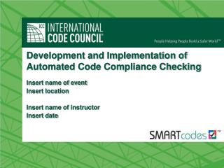 Development and Implementation of Automated Code Compliance Checking