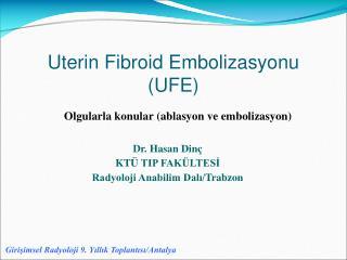 Uterin Fibroid Embolizasyonu (UFE)