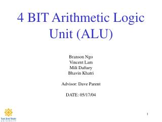 4 BIT Arithmetic Logic Unit ALU