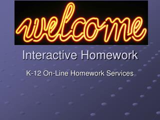 Interactive Homework