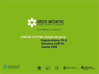 FORUM COPYMA (Estella-Navarra) Virginia Alzina, Ph.D  Directora CAR-PL  4Junio 2009