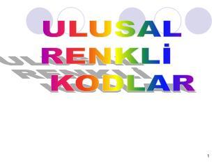 ULUSAL  RENKLİ     KODLAR