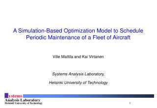A Simulation-Based Optimization Model to Schedule Periodic Maintenance of a Fleet of Aircraft