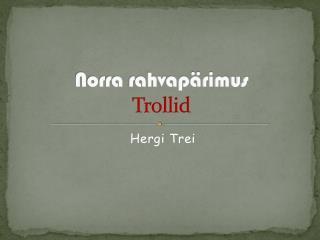 Norra rahvapärimus Trollid