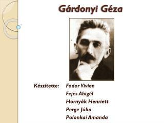 Gárdonyi Géza