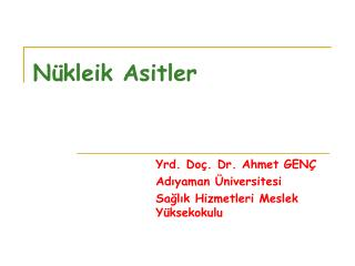 Nükleik Asitler