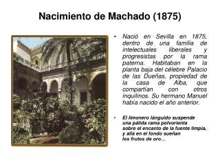 Nacimiento de Machado (1875)