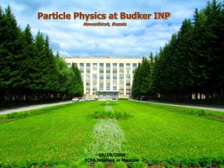 Particle Physics at Budker INP  Novosibirsk, Russia