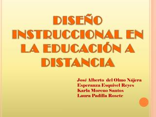 DISEÑO INSTRUCCIONAL EN LA EDUCACIÓN A DISTANCIA