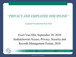 """PRIVACY AND EMPLOYEE DISCIPLINE"" Capital Punishment or Not"