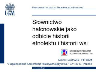 Słownictwo hałcnowskie jako odbicie historii etnolektu i historii wsi