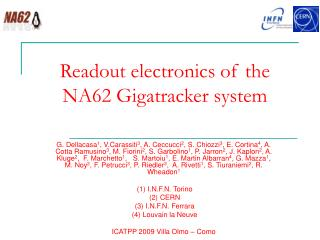 Readout electronics of the NA62 Gigatracker system