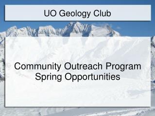 UO Geology Club