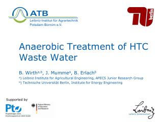 Anaerobic Treatment of HTC Waste Water