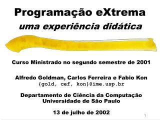 Programação eXtrema uma experiência didática
