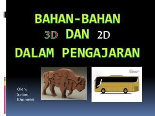BAHAN-BAHAN 3D DAN 2D DALAM PENGAJARAN
