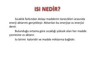 ISI NED?R?
