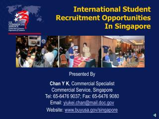 International Student  Recruitment Opportunities In Singapore