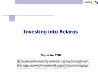 Investing into Belarus