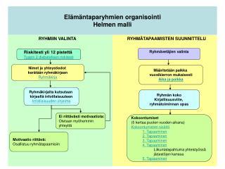 Elämäntaparyhmien organisointi Helmen malli