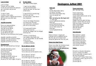Geologens Julfest 2001