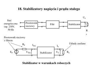 18. Stabilizatory napięcia i prądu stałego